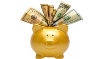 picture of piggy bank stuffed with money