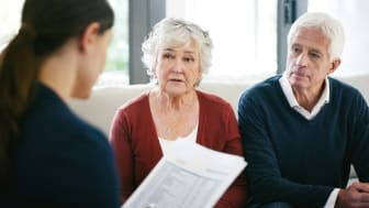 Senior couple working with professional planner