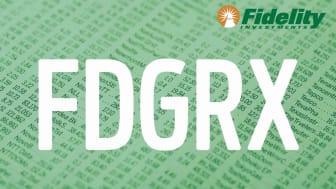 Composite image representing Fidelity's FDGRX fund